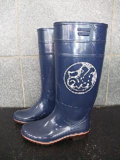 ザクタス耐油長靴  Z-01  (ブルー)日本製 魚河岸プリント入り�@