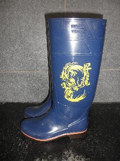 ザクタス耐油長靴  Z-01 (ブルー)日本製 昇龍プリント入り