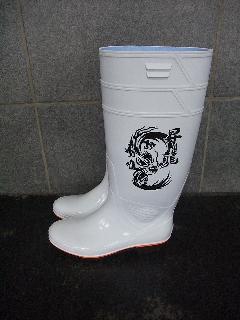 ザクタス耐油長靴  Z-01 (白)日本製 昇龍プリント入り
