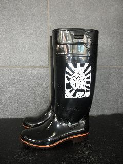 ザクタス耐油長靴  Z-01 (黒)日本製 大漁プリント入り