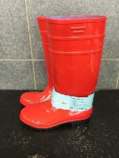 安全耐油長靴ロングタイプ   (レッド/ブラック)中国製