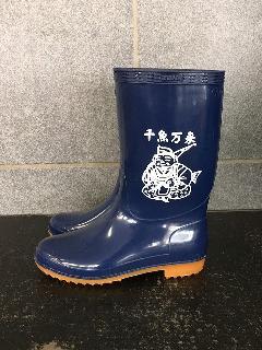 スーパーゾナ耐油長靴 (ブルー)プリント入り 日本製