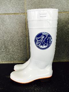 ザクタス耐油長靴  Z-01 (白)日本製 魚河岸プリント入り�A