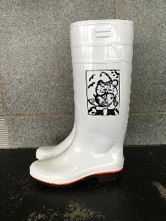 ザクタス耐油長靴  Z-01 (白)日本製 長靴を履いた招き猫入り