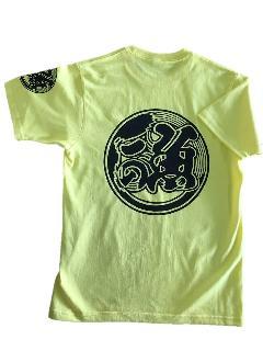 魚河岸プリント入りTシャツ(イエロー)半袖