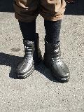 超軽量かるぬくショートブーツ N−2502(黒)男性用