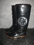 ザクタス耐油長靴  Z-01 (黒)日本製 魚河岸プリント入り�
