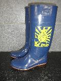 ザクタス耐油長靴  Z-01 (ブルー)日本製 大漁プリント入り