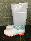 耐油長靴ロングタイプ    (ホワイト/オレンジ)中国製