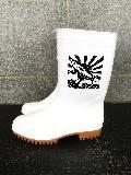 ゾナG3耐油長靴 (白) マグロプリント�入り 日本製