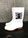 ゾナG3耐油長靴 (白) 大漁プリント�入り 日本製