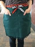 ふさ付別染三つポケット・チャック付き帆前掛(緑)