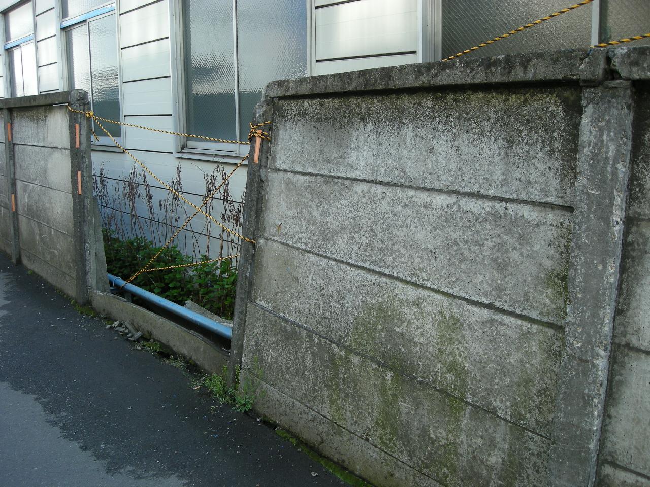 万年塀補修工事