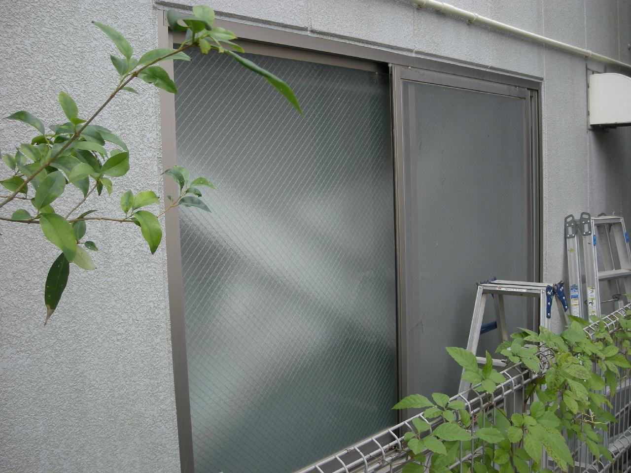 横浜市緑区大型ガラリ取付工事