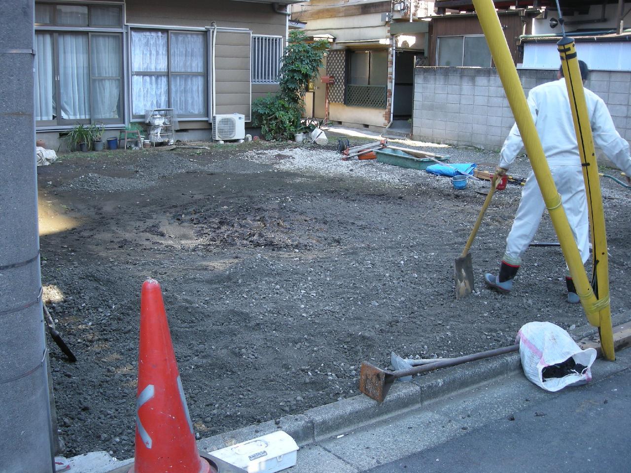 東京都世田谷区駒沢駐車場工事
