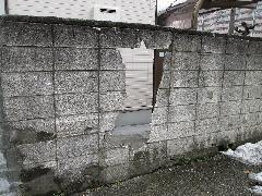 大和市ブロック補修工事