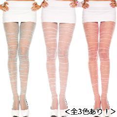 超ロングサイズ くしゅくしゅデザイン ストレッチナイロンパンティストッキング(ML770)