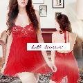 赤 ビーズアクセストラップ ふんわりベビードール(LB4205)