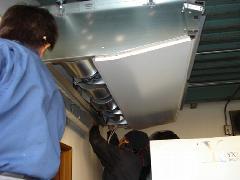 栃木市 工場 エアコンの新規取り付け工事