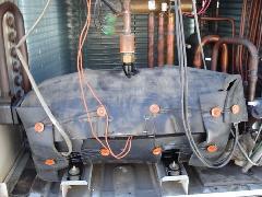 栃木県小山市 横タイプの圧縮機交換