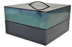 遊山箱 二段 藍染