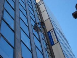 高所窓ガラス清掃