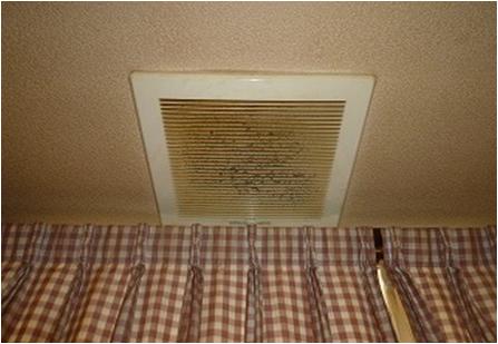 天井換気扇 洗浄前