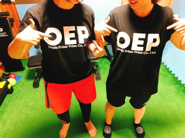 oep×kmフィットネス コラボTシャツ
