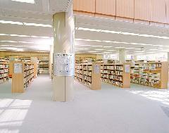図書館の柱巻きサイン製作