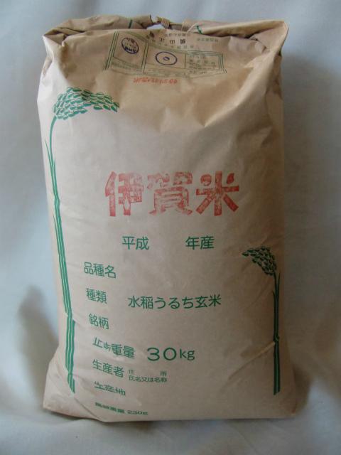 【予約販売】29年産 三重県赤目 横山さんの減農薬特別栽培コシヒカリ 玄米30kg 【精米無料!】