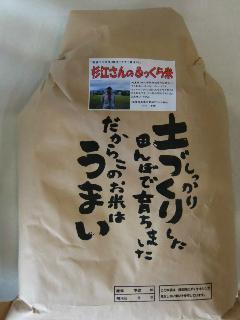 28年産 滋賀・杉江さんのふっくら米 玄米5kg 【精米無料!】