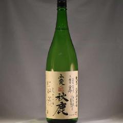 秋鹿 純米 山廃山田 無濾過生原酒  もへじ 1.8L