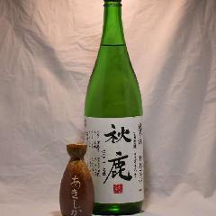 秋鹿 純米  槽搾直汲 山田錦 1.8L