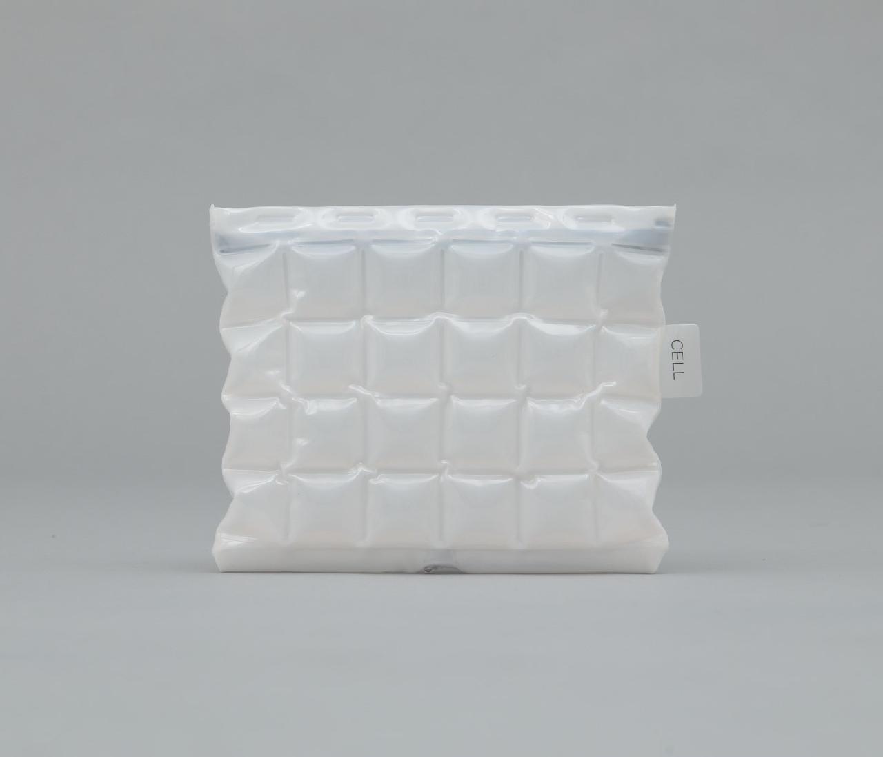 CELL ポーチ 色透明ミルキーホワイト