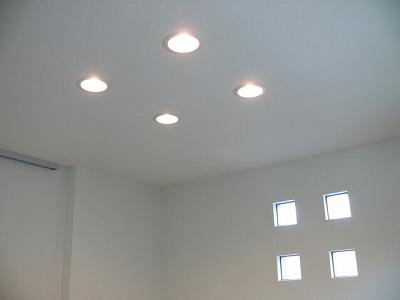 白熱灯または蛍光灯のダウンライト