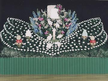 創作花祭壇