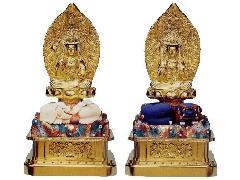 文殊菩薩・普賢菩薩座像(024-05)