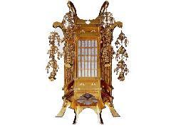 木製六角型吊灯籠【一対】(063-03)