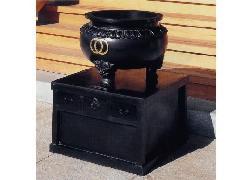 賽銭箱付香炉(103-03)