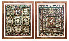 両界曼荼羅額装