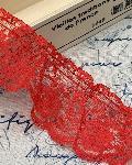 ラッセルレース フリル 赤 商品番号2003-37