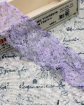 ラッセルレース フリル 紫 商品番号2003-36