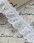 綿レースフリル オフホワイト 商品番号864157-35