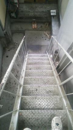 笹塚 マンション 階段シート貼り