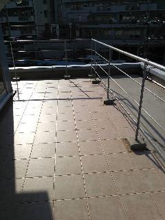 元麻布 マンション ユニットタイル敷き込み工事