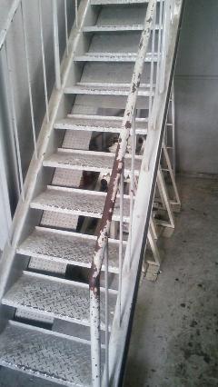 幡ヶ谷 アパート 鉄骨階段塗装