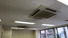 中央区 空調設備工事 業務用 天井カセット型エアコン交換
