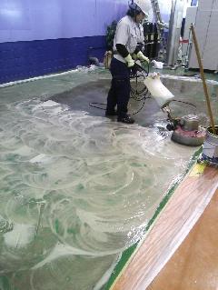川崎市  工場 床剥離清掃