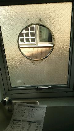 港区 クリニック  窓用換気扇の取り付け