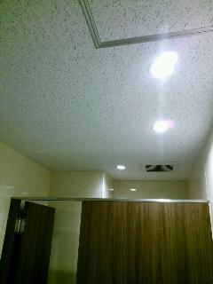 北区  オフィスビル  蛍光管照明からLEDダウンライト変更